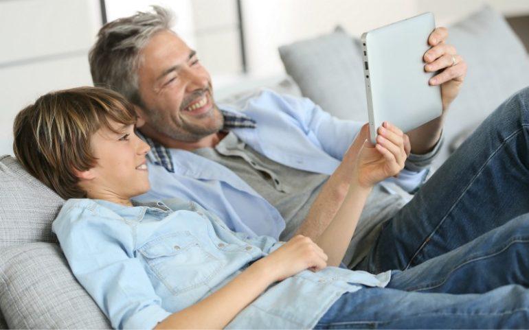 generatie f met vader