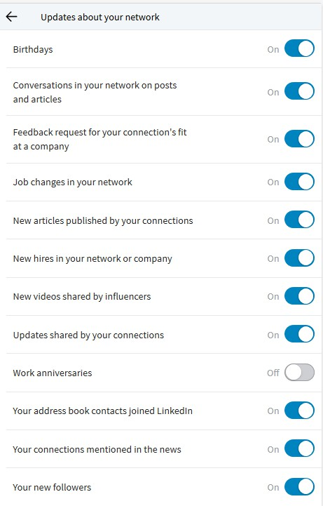 notificaties linkedin trends functionaliteiten