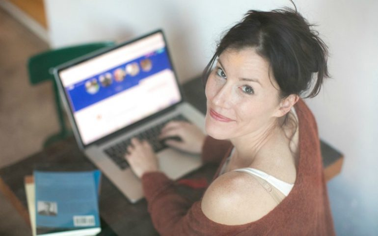 vrouw webshop