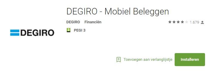 DEGIRO - mobiel beleggen