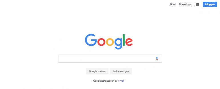 Google.nl interface