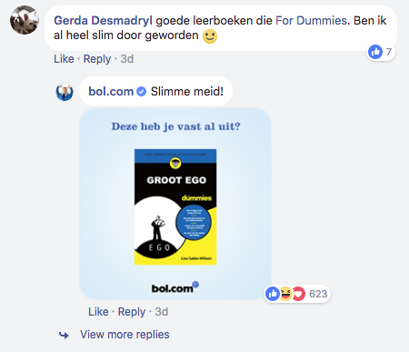 Bol.com opvallend gedrag social media