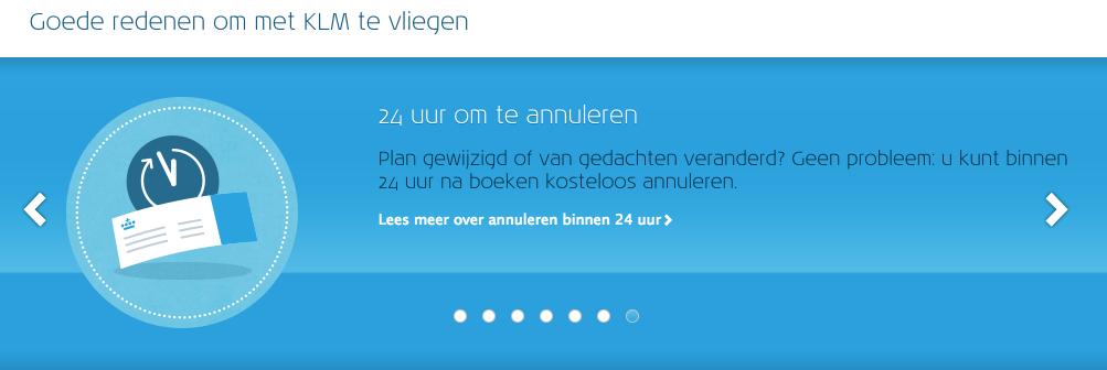 Kleurenmarketing KLM blauw
