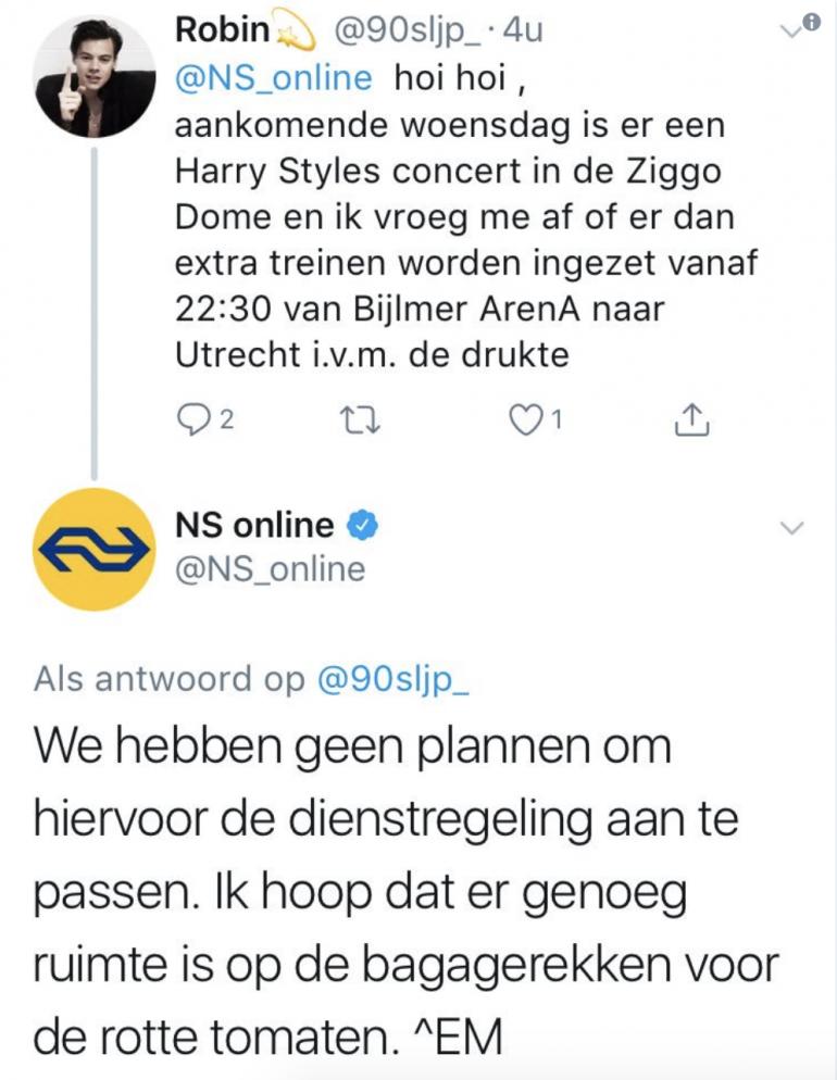 NS opvallend gedrag social media