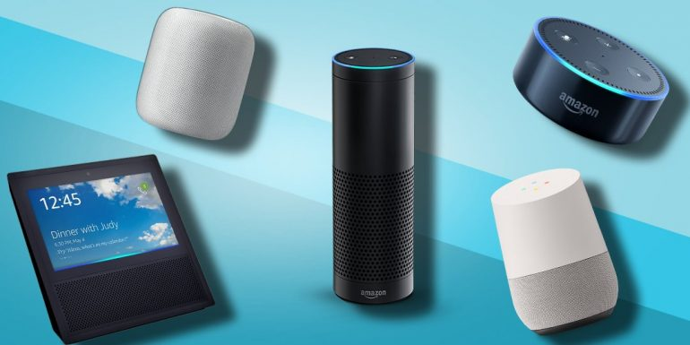 verschillende smart speakers