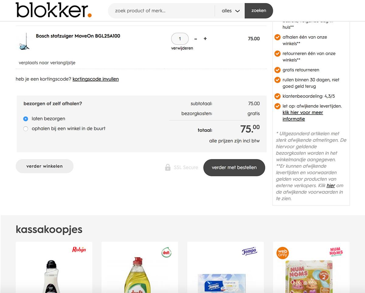 Winkelwagen Orderwaarde Verhogen Blokker