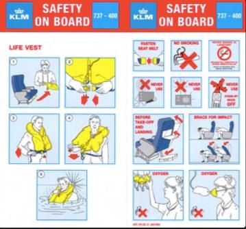 veiligheidsinstructies klm