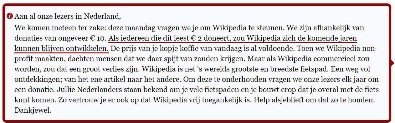 wikipedia donatiecampagne