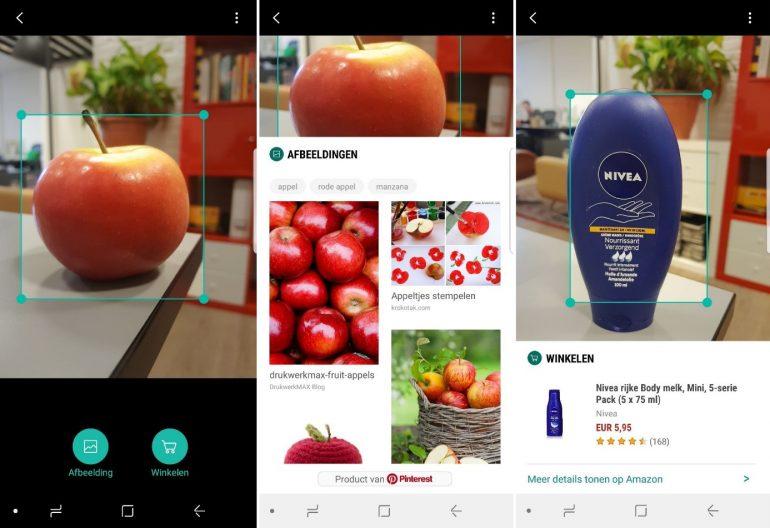 Bixby Visual Search door de Pinterest Lens