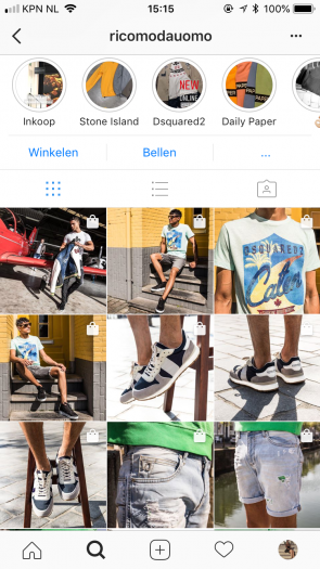 product tagging Instagram Rico Moda