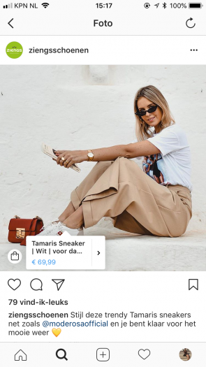 product tagging Instagram Ziengs