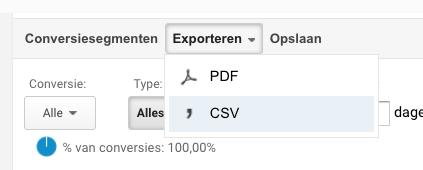 google analytics export maken1