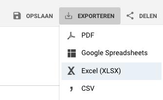 google analytics export maken2