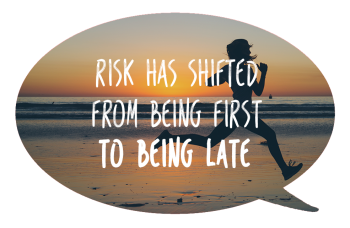 Brenda van den Berg - Blog - Risk has shifted from being first to being late