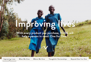 improving lives TOMS purpose marketing