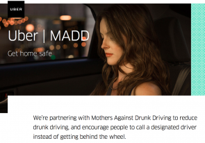 Get home safe uber purpose marketing