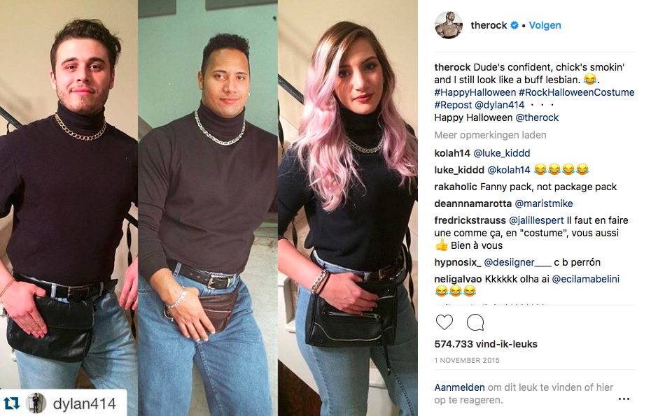Fanny pack hype Dwayne 'The Rock' Johnson