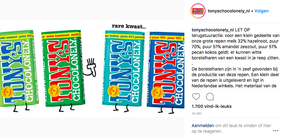 haren in Tony's Chocolonely