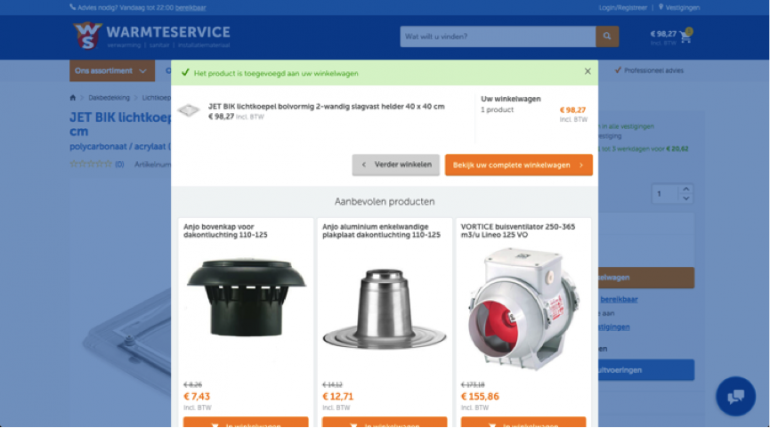 Warmteservice - cross-sell