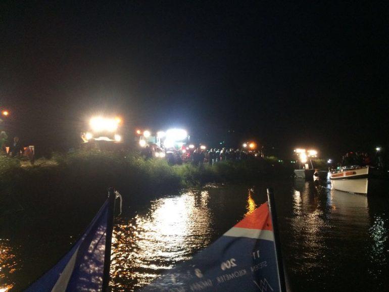 Maarten van der Weijden 11stedenzwemtocht nacht verlichting tractoren