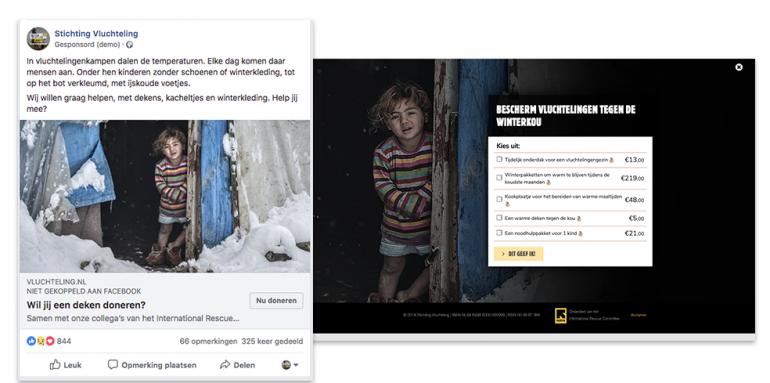 Stichting Vluchteling online fondsenwerving