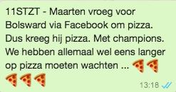 Maarten van der Weijden 11stedenzwemtocht PR whatsapp pizza