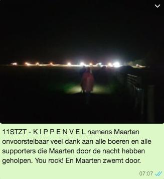 Maarten van der Weijden 11stedenzwemtocht PR whatsapp boeren