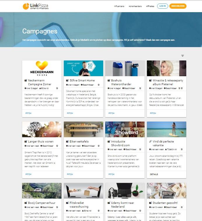 LinkPizza_Campagnes voor Influencers