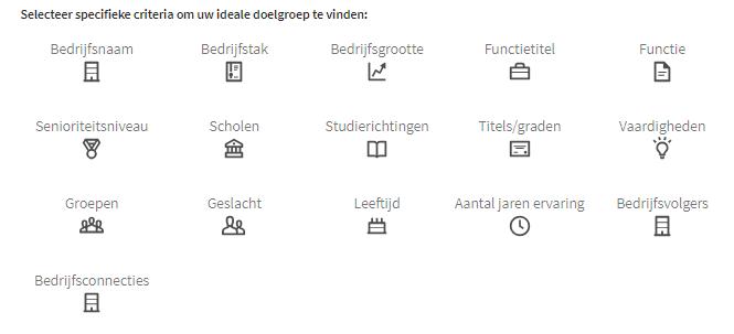 LinkedIn Criteria doelgroep