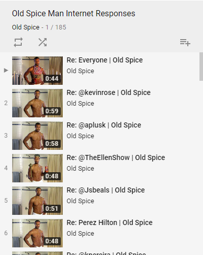 Old Spice responses