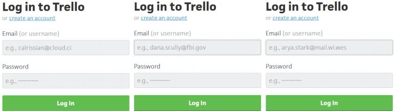 Trello log in