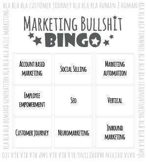 Bullshit bingo kaartje