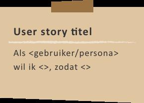 Structuur van de user story