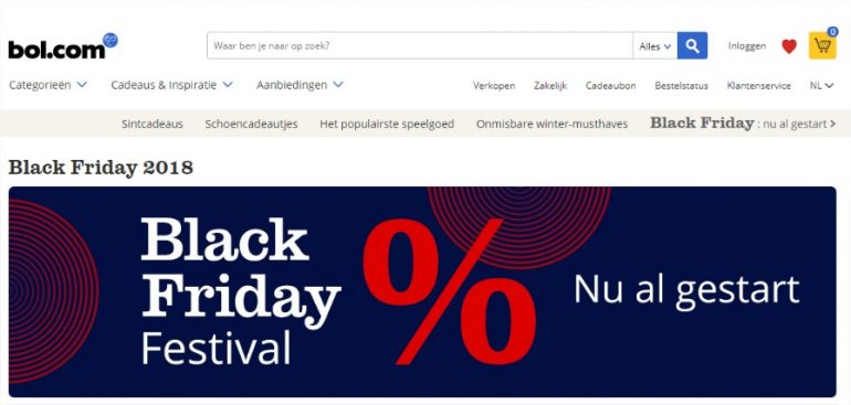 Black Friday 2018 op Bol.com