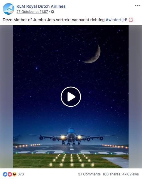 KLM branding