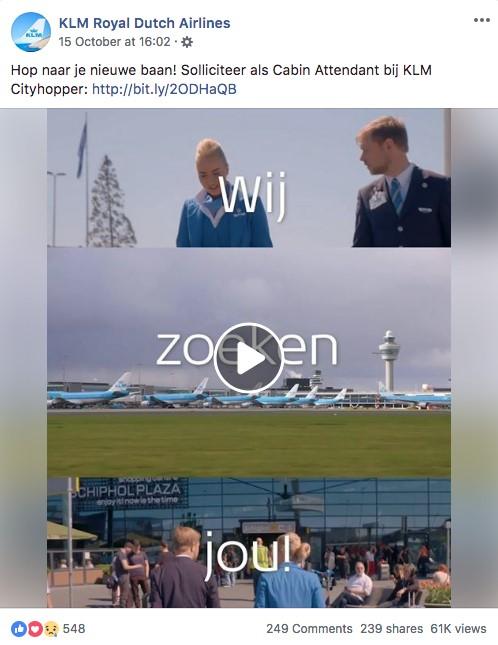 KLM conversie