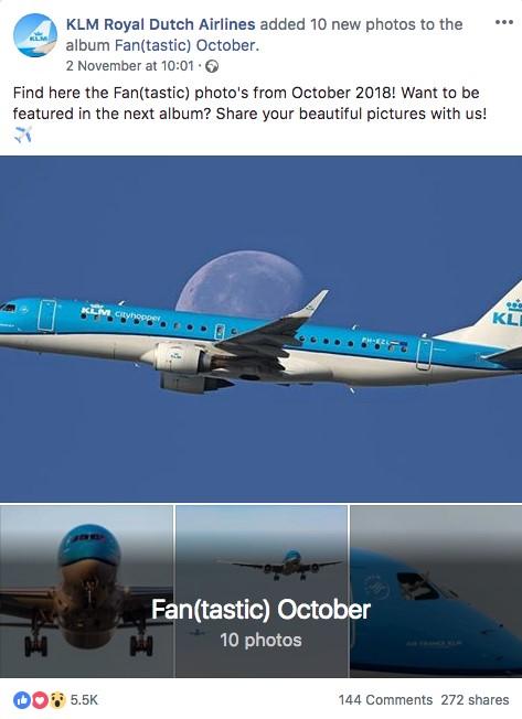 KLM engagement