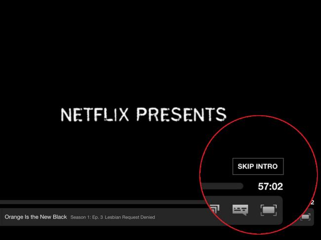 Time wel saved bij Netflix