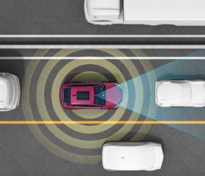 sensoren zelfrijdende auto's