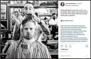 Instagram hashtags barbier Schorem