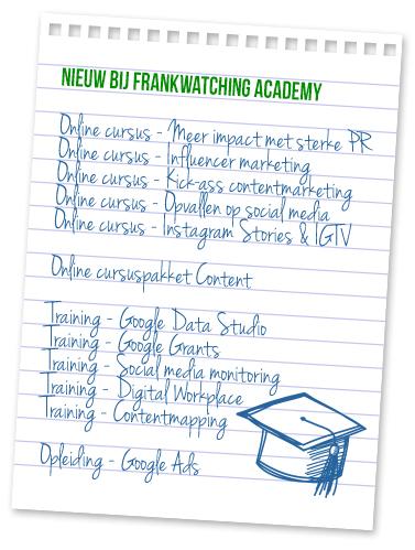 Nieuwe trainingen Frankwatching Academy