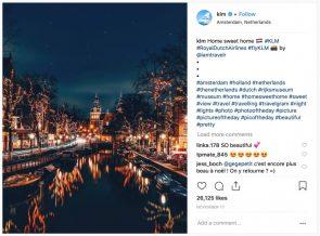 Hashtags KLM Instagram