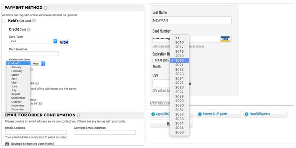 creditcardnummer invullen webshop check-out