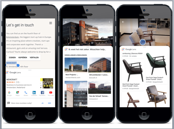 Visual search examples