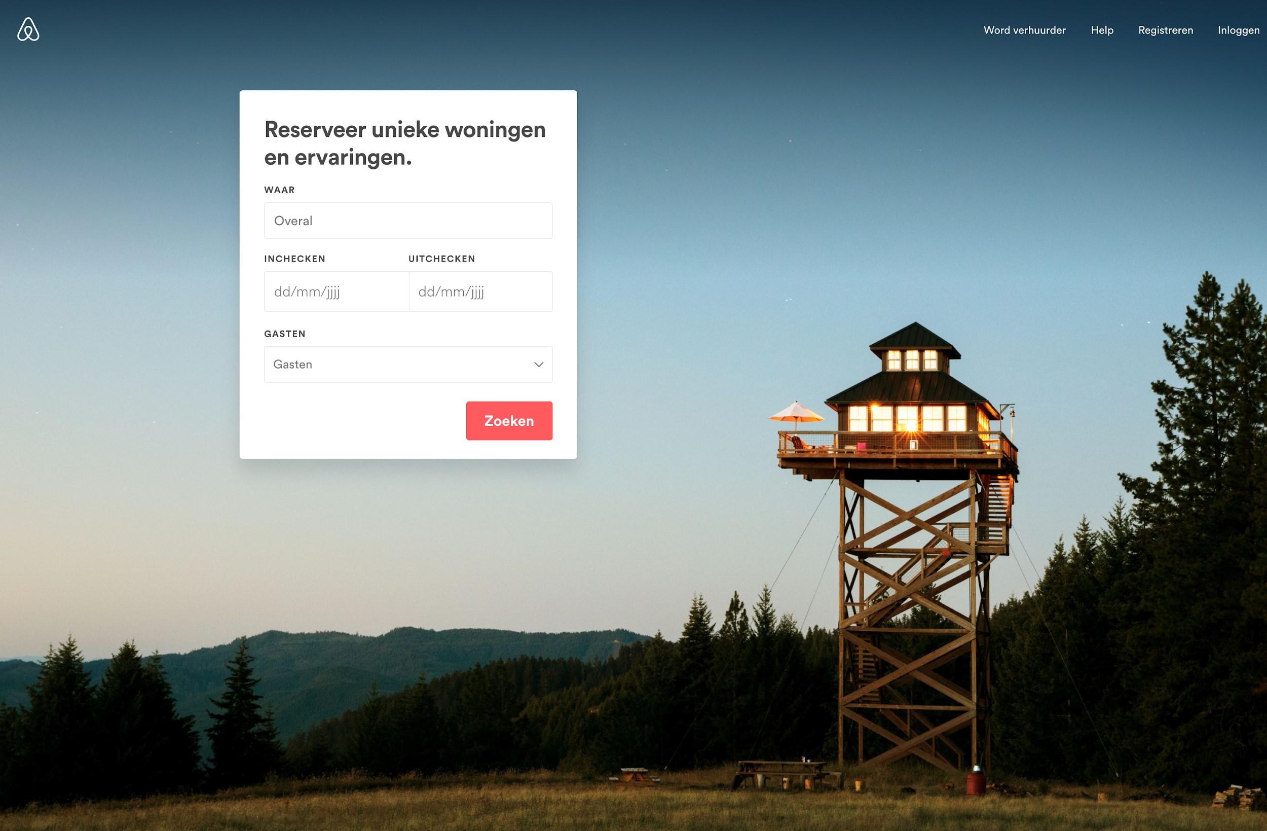Voorbeeld witruimte Airbnb