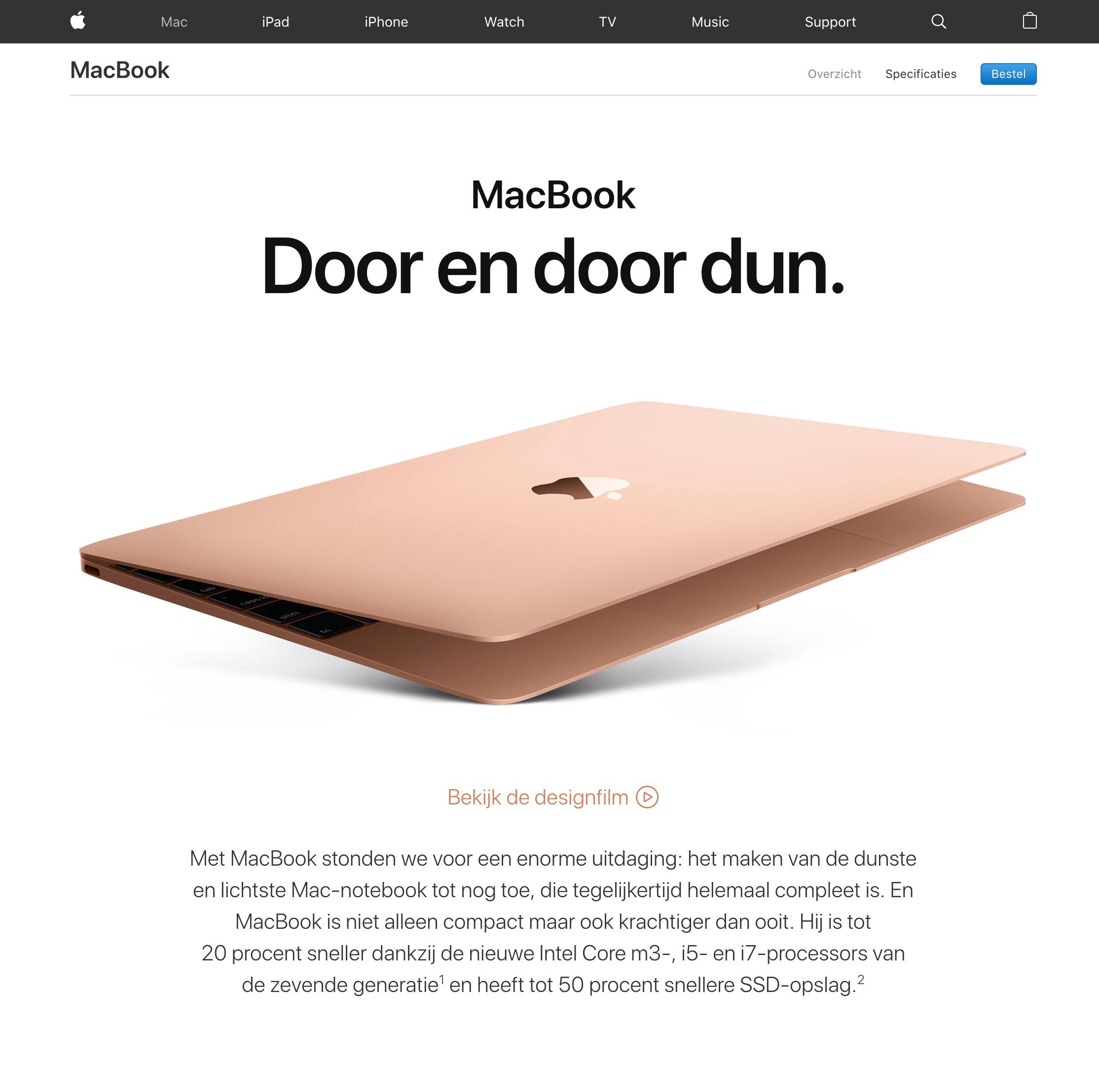 Voorbeeld witruimte Apple
