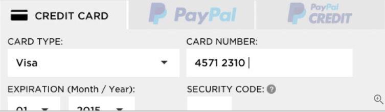 creditcardnummer invullen webshop