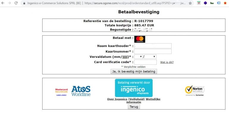redirect creditcard betaaloplossing
