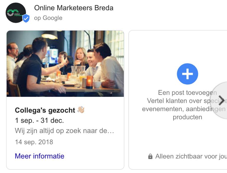 Google Posts op Google Mijn Bedrijf.