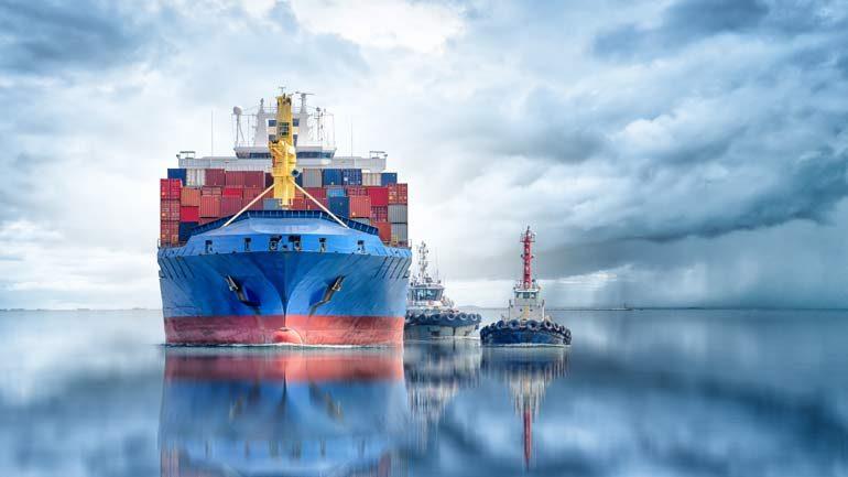 strategische wendbaarheid containerschip en sleepboot